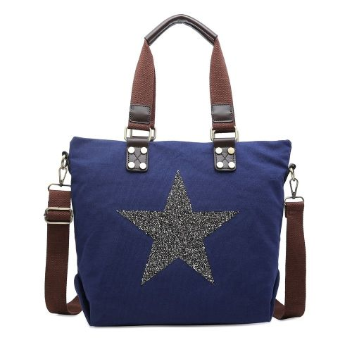 Sparkly star tote handbag - various colours
